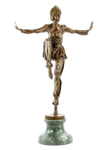 Art Deco Bronzeskulptur - Revuetänzerin - signiert Chiparus