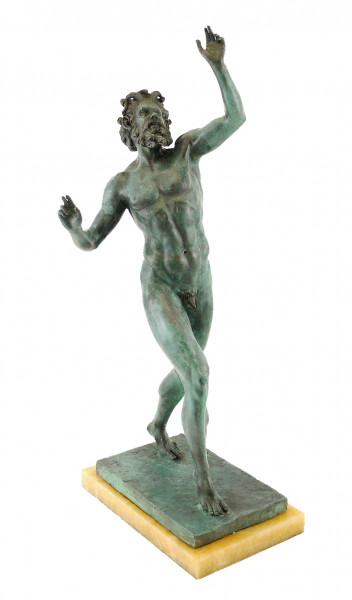 Faun aus Bronze - Fauno Danzante aus Pompeji - sign. Milo