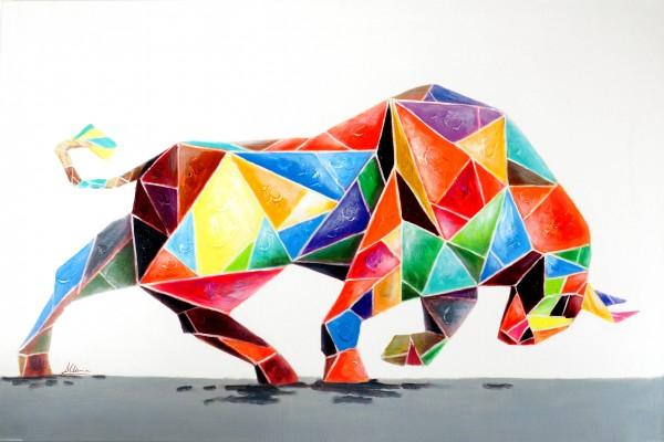 Kubistischer Stier – Moderne Kunst – Martin Klein – Handgemalt