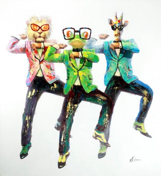 Gangnam Style – Witziges Tierbild – Martin Klein - Moderne Kunst Wandbild