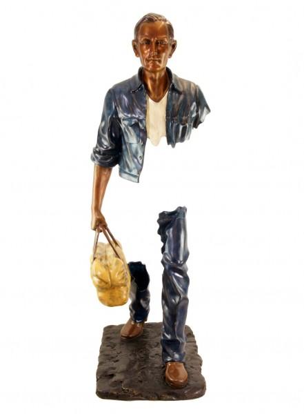 Broken Man XXL - Moderne Großskulptur n Bronze - Höhe: 128 cm