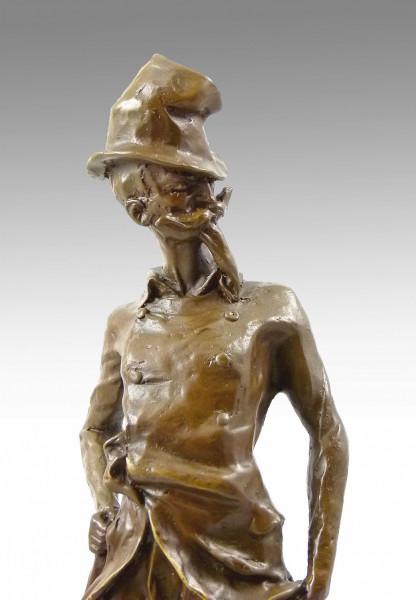 Honore Daumier Bronzefigur - Ratapoil - von 1891 signiert