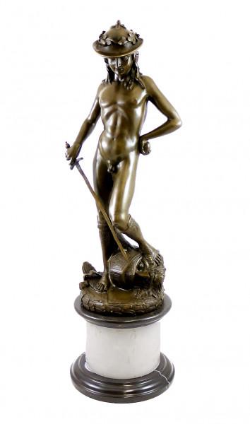 Mythologie Bronze - David von Donatello - signiert Donatello
