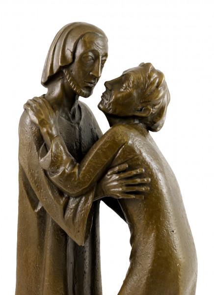 Moderne Bronze - Das Wiedersehen - 1930, signiert Ernst Barlach