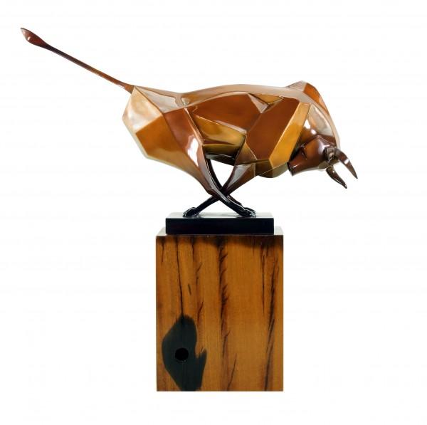 Moderner Bronze Stier von Martin Klein - Bulle - Limitierte Bronzefigur