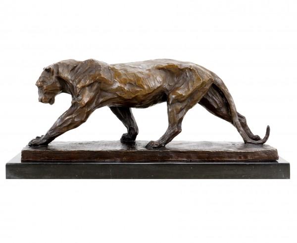 Limitierte Tierskulptur - Panther im Laufen (1904) - sign. Bugatti