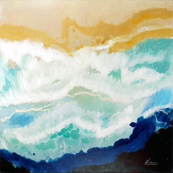 Desert Waves I – Abstraktes Gemälde – Martin Klein – Moderne Kunst