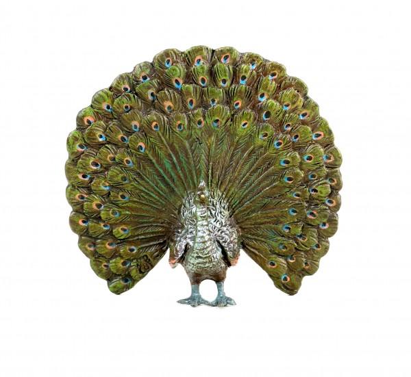 Wiener Bronze Pfau - gestempelt - Tierfigur - Miniaturbronze