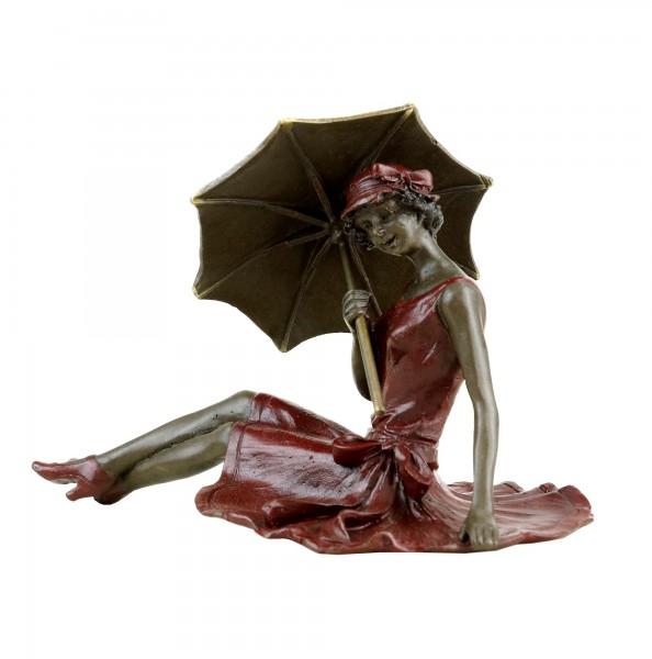 Wiener Bronze - Mädchen im Sonnenschein - Erotika