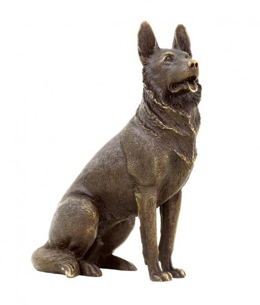 Deutscher Schäferhund - Tierfigur - Bronzeminiatur - signiert Milo