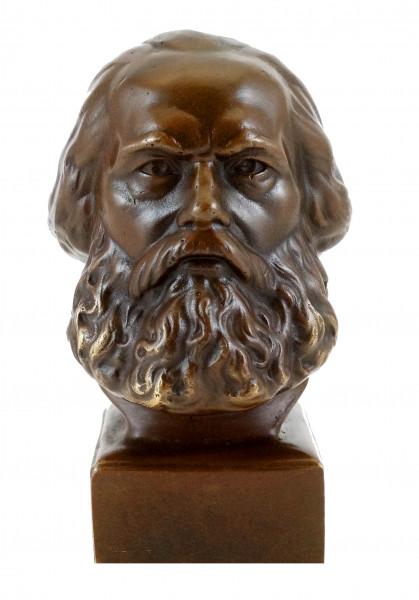 Bronze - Kopf - Karl Marx Büste - signiert