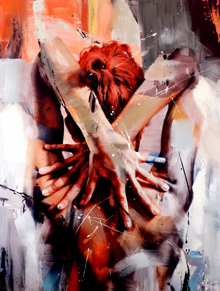 Pretty Nude - Abstraktes Acrylgemälde - Martin Klein