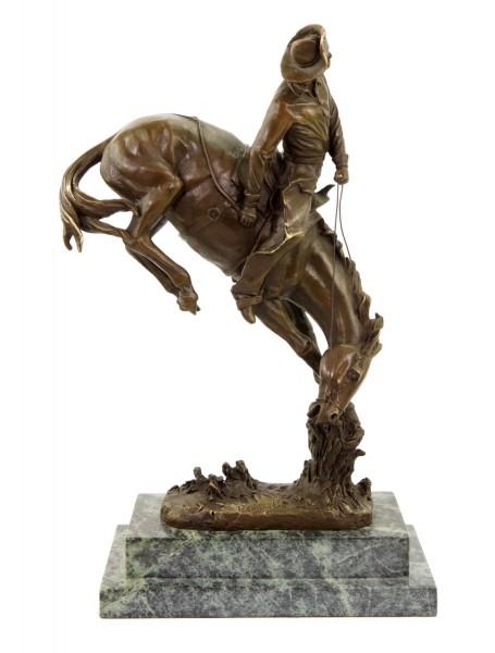 The Outlaw - limitierte Pferdestatue - signiert Frederic Remington