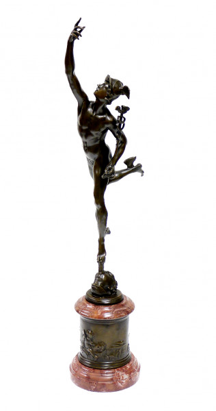 Bronzefigur - Hermes / The Flying Mercury - sign. Giambologna