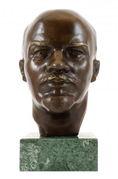 Bronzestatue - Wladimir Iljitsch Lenin - signiert