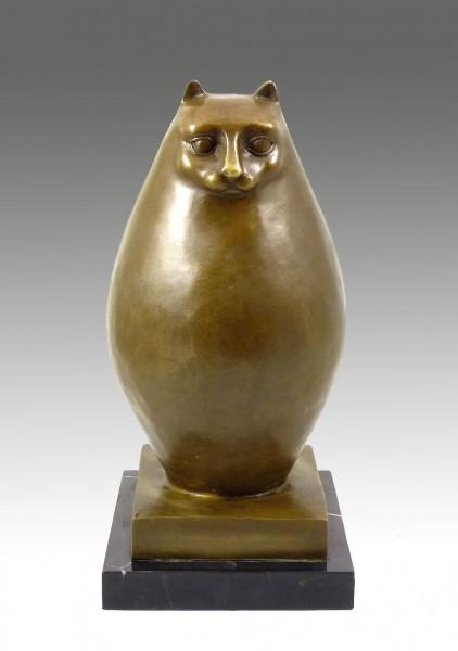 Moderne Skulptur- Große dicke Katze- signiert Fernando Botero