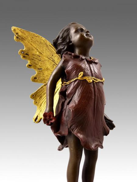 Niedliche Bronzefigur - Elfe, stehend - eine Kreation von Milo