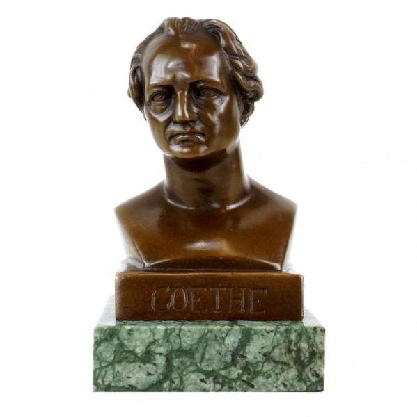Johann Wolfgang von Goethe Büste - Bronzefigur