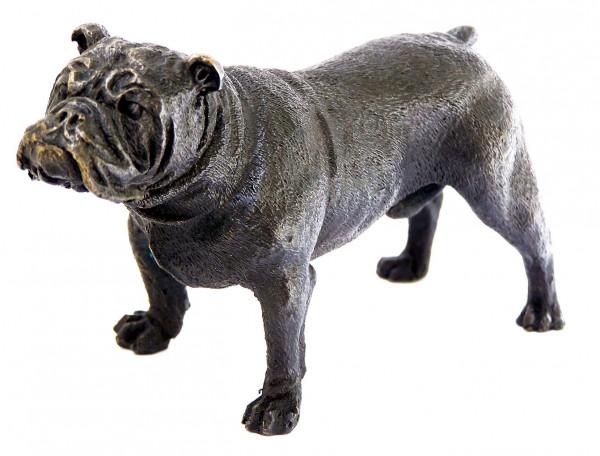 Kleine Britische Bulldogge - Tierbronze - Wiener Bronze