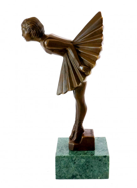 Art Déco Bronzeskulptur - Ballerina / Tänzerin - sign. Chiparus