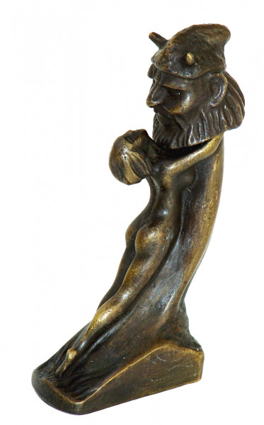 Erotik Wiener Bronze, Frau umklammert Penis, von Duprè, 2 tlg.