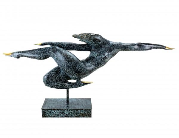Abstrakte Bronzeskulptur - Free Fly - limitiert - sign. Martin Klein