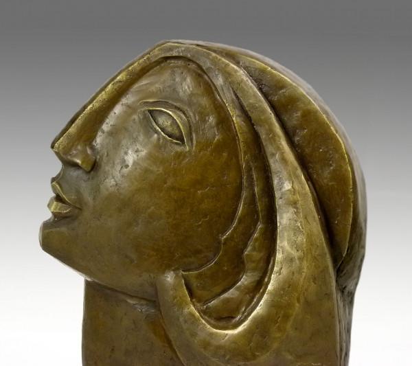 Moderne Kunst-Bronze - Frauenkopf, nach Picasso von Milo