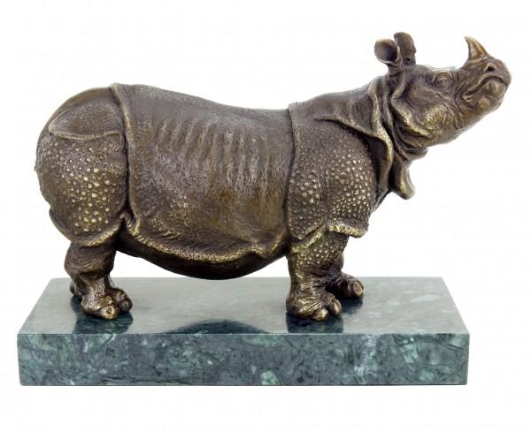 Nashorn Bronzeskulptur von Rembrandt Bugatti - Tierskulptur in Bronze