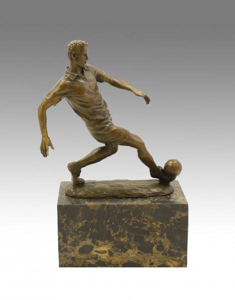 Bronze Sportpokal - Der Fußballspieler - signiert Milo
