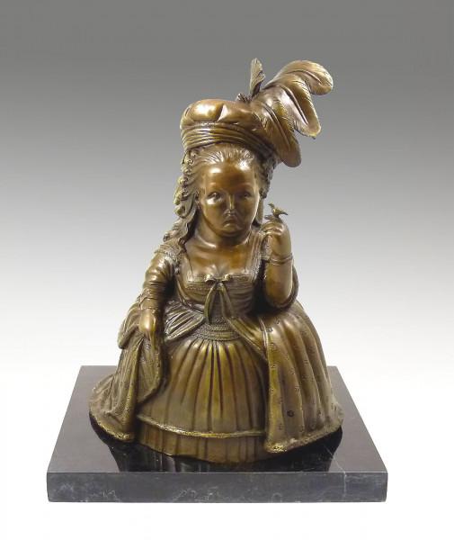 Moderne Bronzeskulptur - Marie Antoinette - signiert Botero