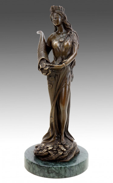 Fortuna - Tyche - Glücksgöttin - J. Patoue - Griechische Statue