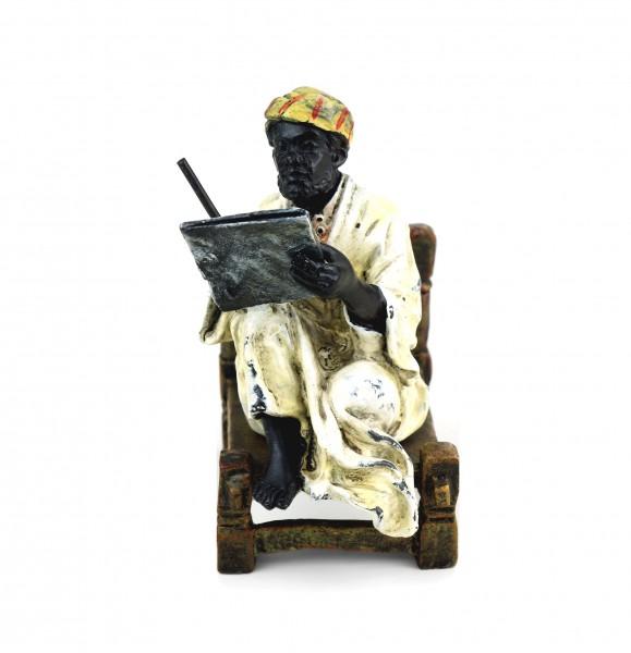 Wiener Bronze - Arabischer Gelehrter - zweiteilig - Araber Figur