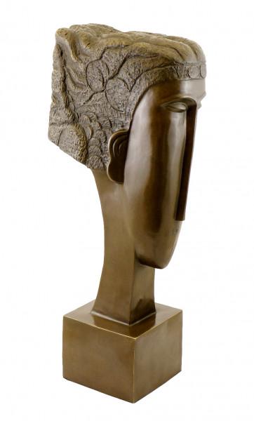 Bronzekopf - Woman's Head (1912), sign. Amedeo Modigliani