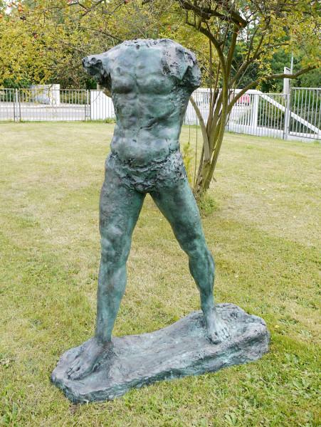 Großbronze Torso - The Walking Man - 1900, sign. Auguste Rodin