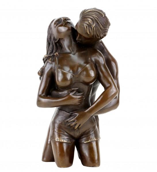 Erotische Bronzefigur - Liebespaar Figur  - Die Umarmung von Patoue