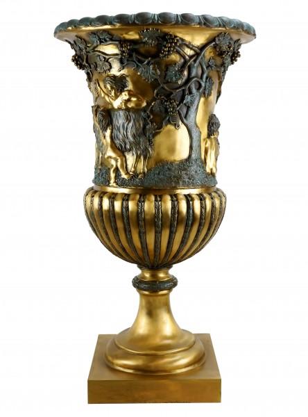 XXL Jugendstil Amphore - Große Vase aus Bronze - signiert Lorenzl