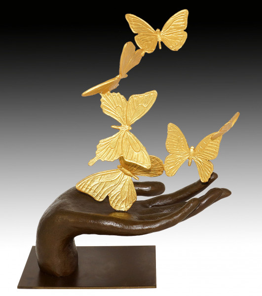 Moderne Kunst Skulptur - Flying Away - Schmetterlinge - M. Klein