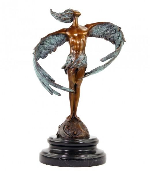 Moderne Bronzeskulptur - Ikarus´20 - signiert Martin Klein