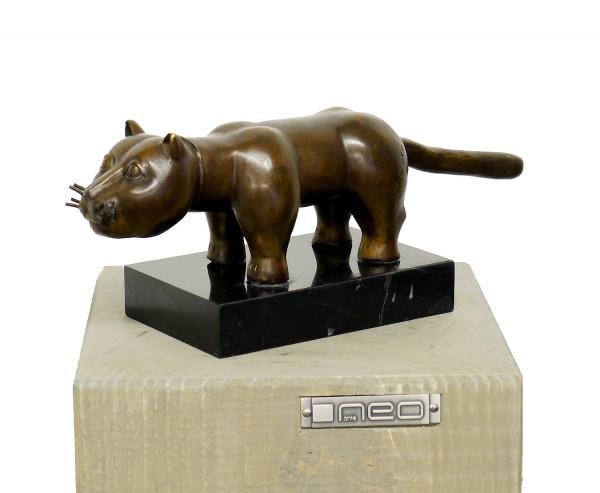 Abstrakte moderne Kunst-Skulptur - El Gato - signiert F. Botero