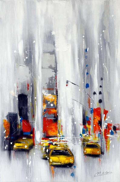 New York - Taxi.... Taxi - Modernes Gemälde - Martin Klein