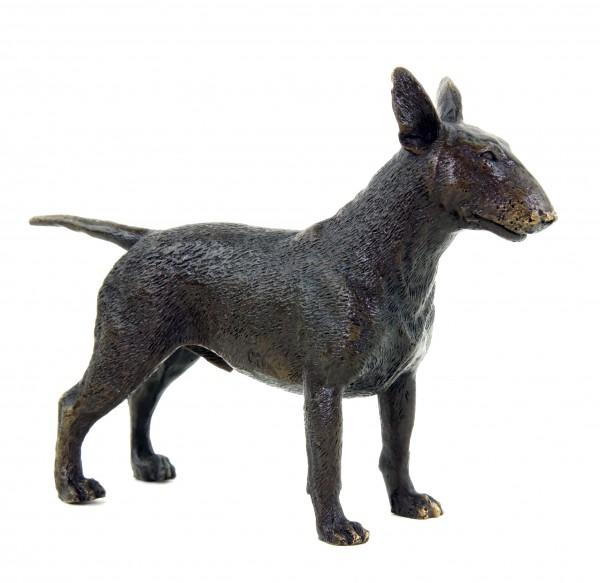 Tierfigur - Bullterrier - Hundestatue - Milo - Bronze Miniatur - Hund