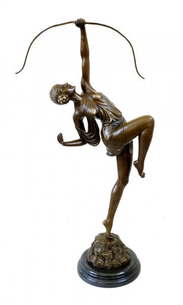 Große Art Deco Skulptur - Diana - Pierre le Faguays