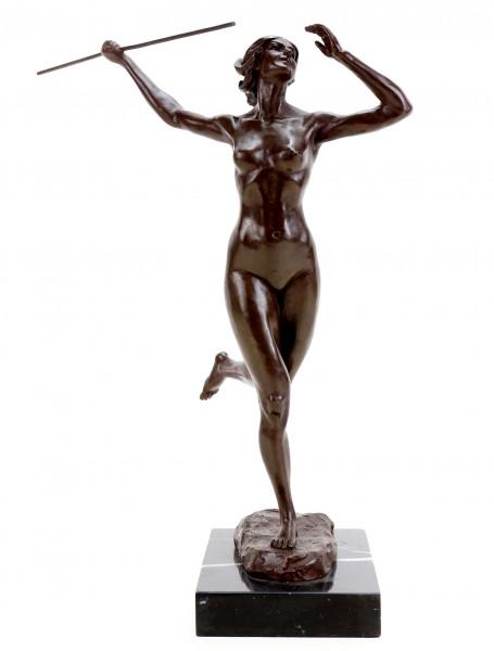 Erotische Speerwerferin - Erotik Akt aus Bronze - Martin Klein