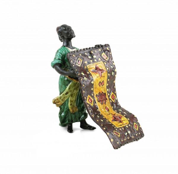 Araberfigur aus Bronze - Arabischer Teppichhändler - Wiener Bronze