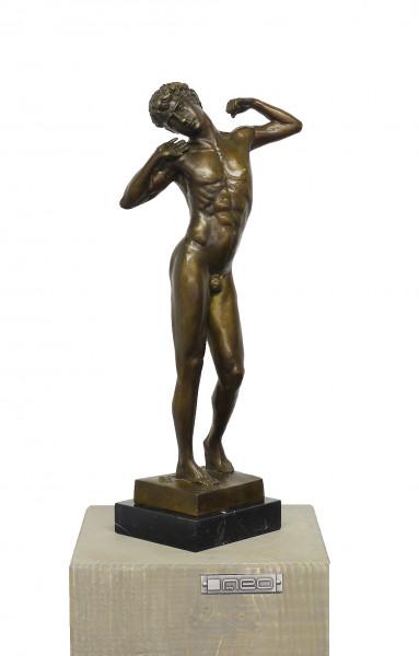 Der Faulpelz - Jugendstil Skulptur - signiert F. Leighton