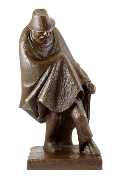Bronzefigur - Vergnügtes Einbein (1934) - sign. Ernst Barlach