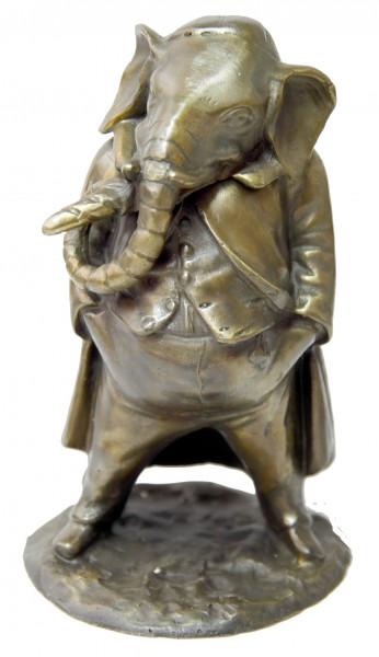 Wiener Bronze, Streichholzständer - Elefant im Frack, Stevens F.