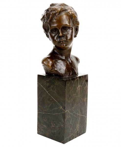 Jugendstilfigur - Knabenbüste - signiert A. Moreau