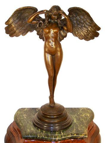 Große Mythologie Engel Bronze auf Marmor, A. A. Weinman