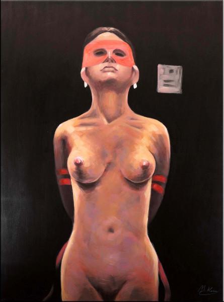 Dominant Nude - Modernes Acrylbild - Aktgemälde - Martin Klein